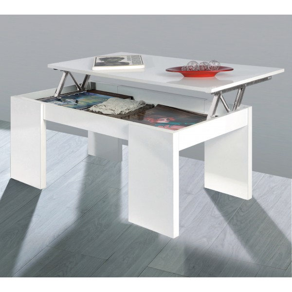 TABLE BASSE BLANCHE KENDRA
